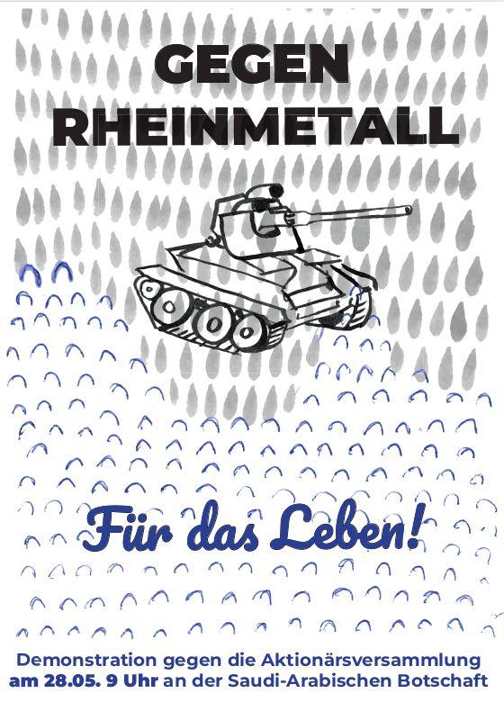 Gegen Rheinmetall. Für das Leben.